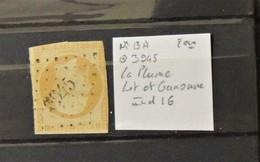 02 - 20 // France -  N°13 - 2ème - Oblitéré 3945 - La Plume - Lot Et Garonne - Indice 16 - 1853-1860 Napoleone III
