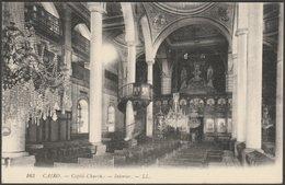Interior, Coptic Church, Cairo, C.1905-10 - Lévy Postcard LL163 - Cairo