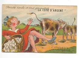 LA COTE D'ARGENT -64- -carte à Systeme Avec Son Dépliant De 10 Vues VACHES OEUFS PERRETTE - Móviles (animadas)