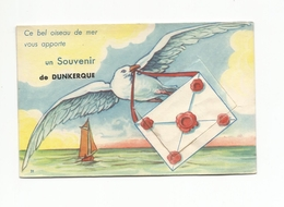 DUNKERQUE -carte à Systeme Avec Son Dépliant De 10 Vues PIGEON VOYAGEUR - Dunkerque