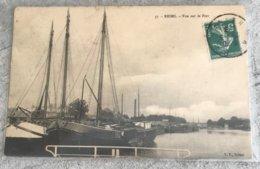 51 Reims 1903 Le Port  Bateaux Cheminee Usine - Reims