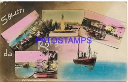 129810 ITALY RAPALLO GENOVA MULTI VIEW SPOTTED CENSORED CIRCULATED TO ARGENTINA  POSTAL POSTCARD - Italy