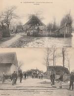 2 CPA:SAINT JUSTE SAUVAGE (51) RUINES CRUE DE LA SEINE JANVIER 1910,LES SECOURS AVEC DES LANCES - France