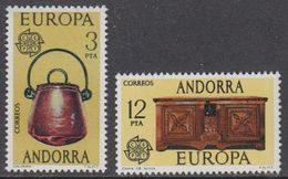 Europa Cept 1976 Andorra Sp. 2v ** Mnh (46170D) ROCK BOTTOM - 1976