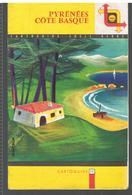 SHELL  Cartoguide SHELL BERRE N°12 Pyrénées Côte Basque Année 1959 Couverture De Jean Colin - Cartes Routières