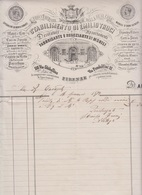 ** EMILIO TRUCI.- (FI).- 1872.- STAB. DI MOBILI.- ** - Italia