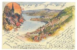 EL 8 - 17041 MONTREUX, Litho, Switzerland - Old Postcard - Used - 1898 - VD Vaud