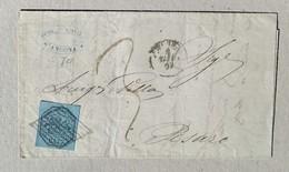 Lettera Ancona-Pesaro - 04/06/1857 Affrancata Con 7 Baj - Papal States