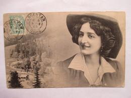 DAGUIN  JUMELEES   - ARGENTAN   -   JEUNE  FEMME  ,  CHAPEAU   .....      TTB - Marcophilie (Lettres)