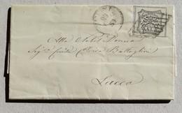Lettera Rimini-Lucca - Anno 1859 Affrancata Con 8 Baj Bianco - Stato Pontificio