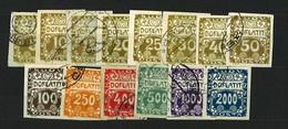 1919 Czechoslovakia - Michel: P 1-14 - Used - Czechoslovakia