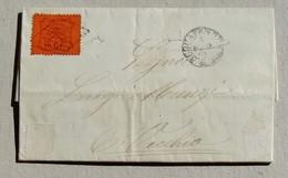 Lettera Acquapendente-Civitavecchia - Anno 1869 Affrancata Con 10 Cent.(26) - Papal States