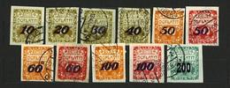 1924 Czechoslovakia - Michel: P 25-34 + 54 - Used - Czechoslovakia