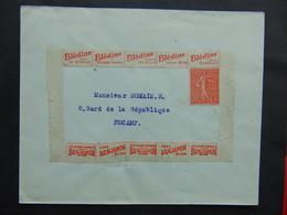 N°. 113 Dans Catalogue Maury Sur Lettre étant Passé Au Travers De L'oblitération - Publicités