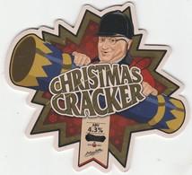 TETLEYS BREWERY  (LEEDS, ENGLAND) - CHRISTMAS CRACKER - PUMP CLIP FRONT - Letreros