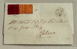 Busta Di Lettera Roma-Paliano - Anno 1869 Affrancata Con 10+20 Cent. - Papal States