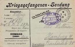 Carte Franchise Prisonniers Guerre ROMANS Drome Utilisée Depuis Laon 1919 Kriegsgefangenen Sendung - Marcofilie (Brieven)