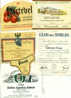 31 Wijnetiketten + Verschillende Dubbels - 31 étiquettes De Vin + Plusieures Doubles - Collections & Sets