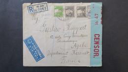 Lettre Dec. 1939 Censure De Tel Aviv Palestine Pour Le Camp De Formation Soldats Tchécoslovaques A Agde Herault - Marcophilie (Lettres)