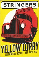 STRINGERS BREWERY  (ULVERSTON, ENGLAND) - YELLOW LORRY - PUMP CLIP FRONT - Letreros