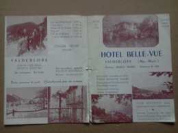 Papier à Lettre (écrit) De L'HÔTEL BELLE VUE . VALDEBLORE. Alpes Maritimes. Direction BOÏDO MOREL - Dépliants Touristiques