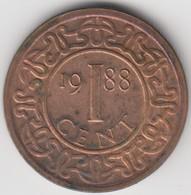 @Y@    Suriname  1 Cent  1988   (4609) - Surinam 1975 - ...