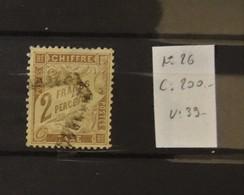 02 - 20 // France - Taxe N° 26 Oblitéré - TB  - Cote : 200 Euros - 1859-1955 Oblitérés