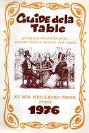 Publicité Guide De La Table Logeais Jamin Distributeur Grappe Fleurie Meilleurs Voeux 1976 - Publicités