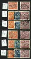 1923 Michel: 202-204 A+B I. + II. + III. Types - Used - Czechoslovakia