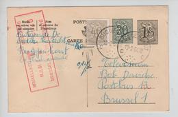 REF365/ Entier CP 154 II NF + TP 853 C.Buggenhout 13/2/64 Griffe T 0,10 Fr > BXL Taxé 0,20c Par TTx Méc.BXL1 14/2/64 - Cartes Postales [1951-..]