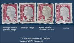 """FR Variétés YT 1263 """" Marianne Decaris """" Neuf** Décalage Important Des Couleurs - Variedades: 1960-69 Nuevos"""