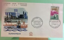 Dunkerque (n°413) Dunkerque 24.3.1962 -FDC 1er Jour Coté 6,50€ (Y&T) - FDC