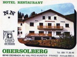 (137) CPSM  PUB  Eschbach   Hotel Restaurant  Obersolberg    (Bon Etat) - Otros Municipios
