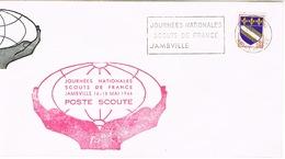 JOURNEES NATIONALES SCOUTS DE FRANCE JAMBVILLE POSTE SCOUTE GRANDE ENVELOPPE - Brieven En Documenten