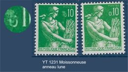 "FR Variétés YT 1231 "" Moissonneuse "" Neuf** Anneau-lune - Variétés Et Curiosités"