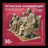Russia 2020 Mih. 2823 World War II. Yalta Conference. Joseph Stalin. Franklin D. Roosevelt. Winston Churchill MNH ** - 1992-.... Federación