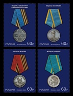 Russia 2020 Mih. 2824/27 Medals Of The Russian Federation MNH ** - Unused Stamps