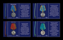 Russia 2020 Mih. 2824/27 Medals Of The Russian Federation (with Labels) MNH ** - 1992-.... Federación