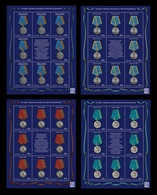 Russia 2020 Mih. 2824/27 Medals Of The Russian Federation (4 M/S) MNH ** - Unused Stamps