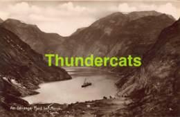 CPA CARTE DE PHOTO NORGE NORWAY GEIRANGERFJORDEN VED MEROK - Norvège