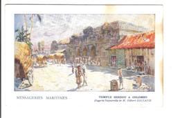 TEMPLE HINDOU A COLOMBO D'après L'aquarelle De Gilbert Galland - Messageries Maritimes - Sri Lanka (Ceylon)