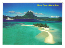 Tahiti N°849 MOTU TAPU BORA BORA Yacht Voilier 5 Mâts VOIR DOS - Tahiti
