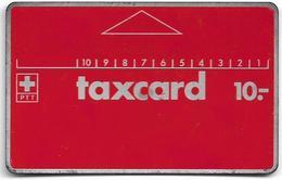 Switzerland - Swisscom (L&G) - (PTT Serie 01) - Red FullFace Old PTT Logo (Atelier Barbara) - C0 110596 - 10Fr, Used - Suiza