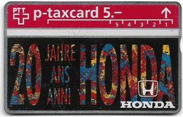 Switzerland - Swisscom (L&G) - Privates (KP Cards) - 20 Jahre Honda - 425L - 5Fr, Mint - Suiza