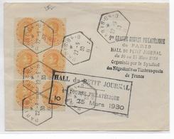 1930 - 1° BOURSE PHILATELIQUE De PARIS Avec CACHET HEXAGONAL PARIS 84B Sur TIMBRES FISCAUX-POSTAUX  De VENEZUELA ! - Variedades Y Curiosidades