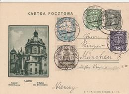 Pologne  Entier Postal Illustré Pour L'Allemagne 1932 - Entiers Postaux