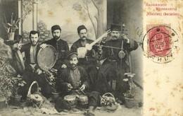 Georgia Russia, Caucasian Musicians, Instruments Balalaika (1906) Postcard - Géorgie