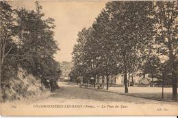 69 - CHARBONNIÈRES-LES-BAINS - LA PLACE DES EAUX - Charbonniere Les Bains