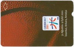TURKEY B-374 Magnetic Telekom - Sport, Basketball - Used - Türkei