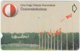 TURKEY B-375 Magnetic Telekom - Flags Of The World - Used - Türkei